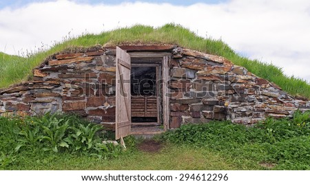Root cellar in Elliston, Newfoundland, Canada