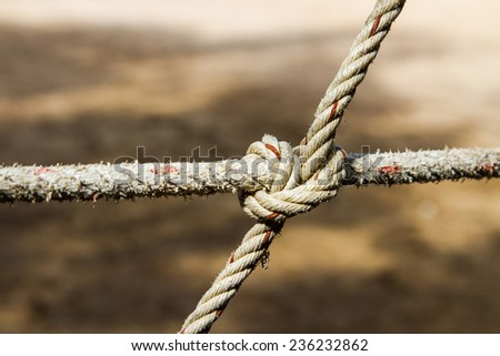 Rope and tie - stock photo