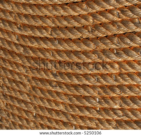 Rope Closeup - stock photo