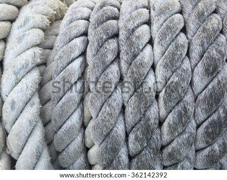 Rope.Detail rope ship Background.Boat rope.  - stock photo