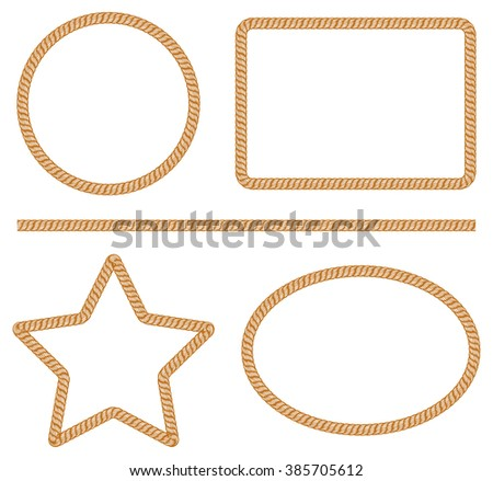 Rope frame vector stock vector 152601671 shutterstock Rope photo frame