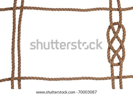 Rope frame - stock photo