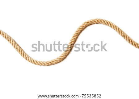 Rope in the form of waves - stock photo