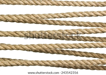 Rope isolated on a white background as a background