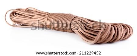 Rope isolated on white - stock photo