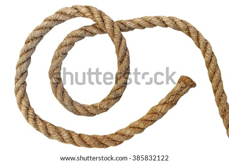 Rope isolated on white background.