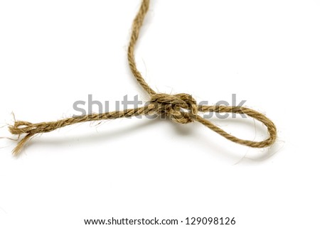 Rope loop isolated on white background - stock photo