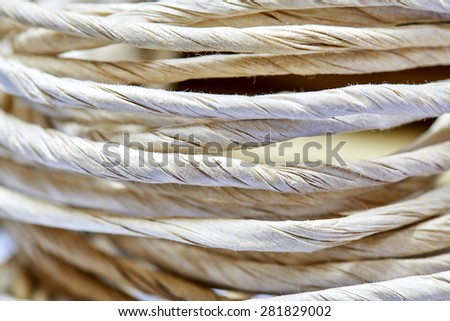 Rope made from mulberry paper