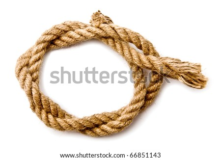 rope on a white background - stock photo