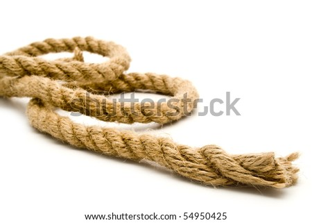 rope on a white background for your illustrations