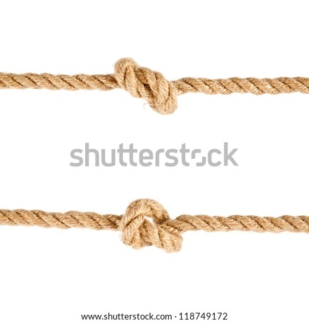 rope on a wooden background