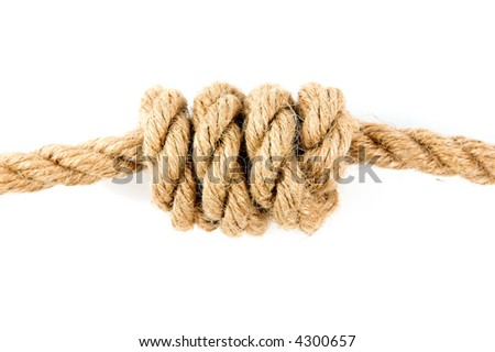 Rope on white