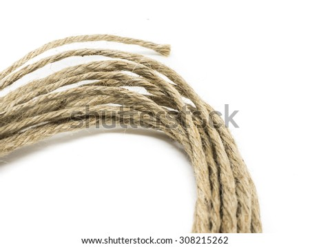 Rope tied isolated on white background - stock photo