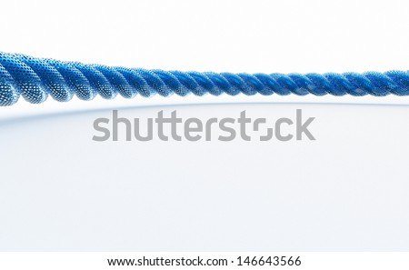 ropes on white background, screen background