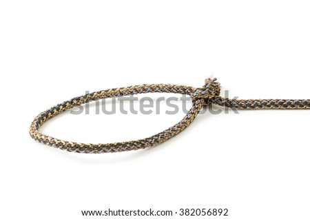 ropes with knot isolated on white background