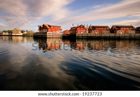 Rorbu cabins, Lofoten Islands, Norway - stock photo
