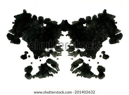 Rorschach inkblot test illustration - stock photo