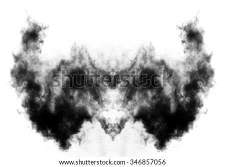 Rorschach inkblot test, psychology test card conceptual illustration - stock photo