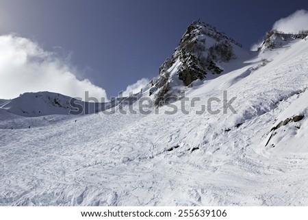 Rosa Khutor Alpine Ski Resort in Sochi. Russia. - stock photo