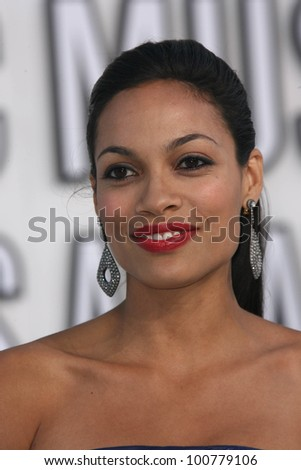 Rosario Dawson at the 2010 MTV Video Music Awards, Nokia Theatre L.A. LIVE, Los Angeles, CA. 08-12-10