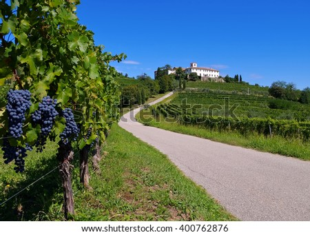 Rosazzo Abbey in northern Italy - stock photo
