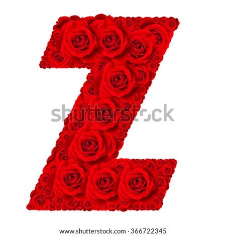 Rose Alphabet Set Alphabet Capital Letter Stock Photo Royalty Free