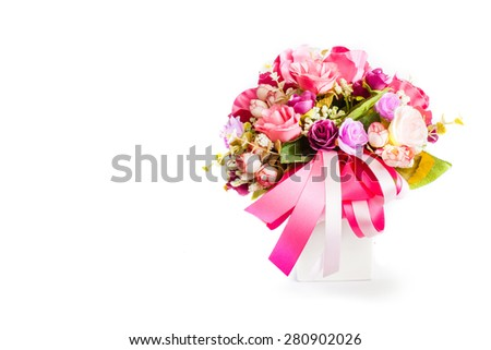 rose flower bouquet isolated white background