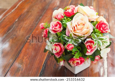 rose flower decoration - stock photo
