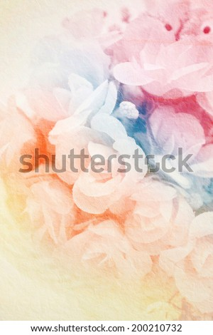 Rose flowers on mulberry texture background, flower background.