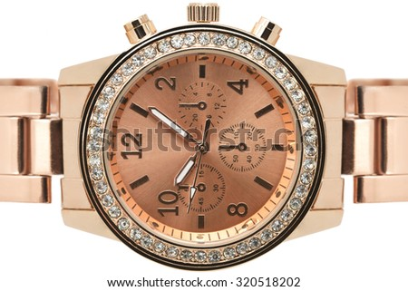 Rose Gold Watch - stock photo