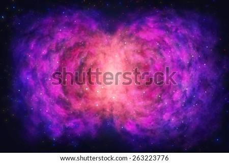 Rose Nebula - Landscape mode - Scene Design - stock photo