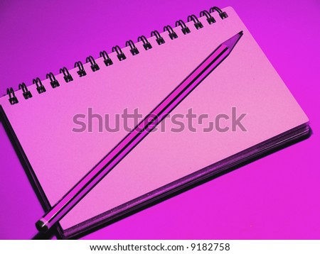 rose notebook - stock photo