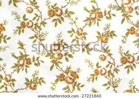Rose pattern background isolated on white - stock photo