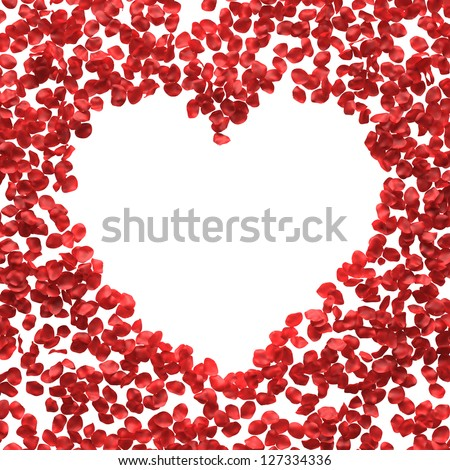 rose petals greetings with place for text - stock photo