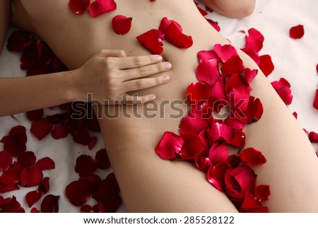Rose Petals on the body