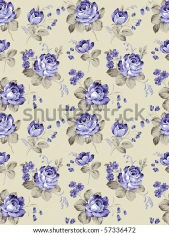 rose seamless pattern background - stock photo