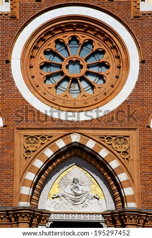 rose window church abbiate varese italy the old wall terrace church bell tower