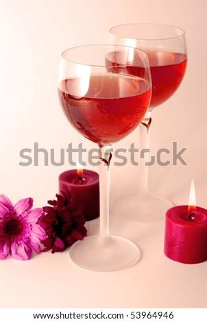 Rose wine - stock photo