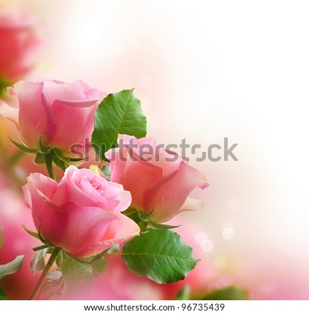 Roses Art Design - stock photo