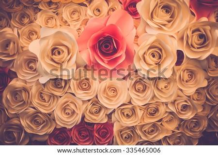 roses background. Retro filter. - stock photo