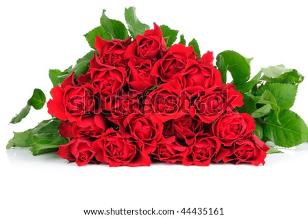 Roses bouquet isolates on white background