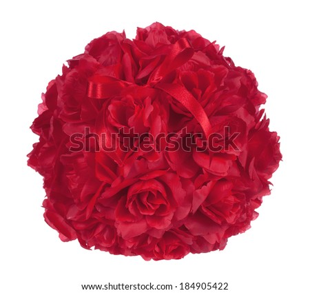 Roses Bouquet on white background - stock photo