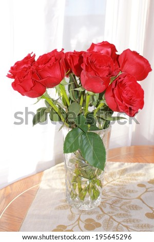 Roses on the table - stock photo