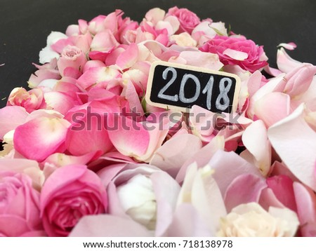 Roses Petals 2018 Wallpaper. Flower 2018. Roses For New Year 2018. Hello  2018