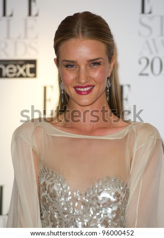 Rosie Huntington Whiteley arriving for the Elle Style Awards 2012 at the Savoy Hotel, London. 13/02/2012 Picture by: Simon Burchell / Featureflash