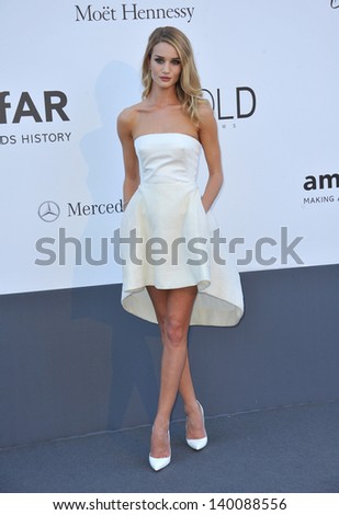 Rosie Huntington-Whiteley at amfAR's 20th Cinema Against AIDS Gala at the Hotel du Cap d'Antibes, France May 23, 2013  Antibes, France - stock photo