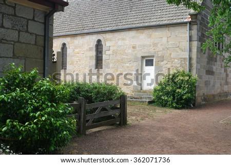 ROSS, AUSTRALIA - NOVEMBER 14: Scene from  historic convict early settler town of Ross November 14, 2015 in Ross, Australia - stock photo