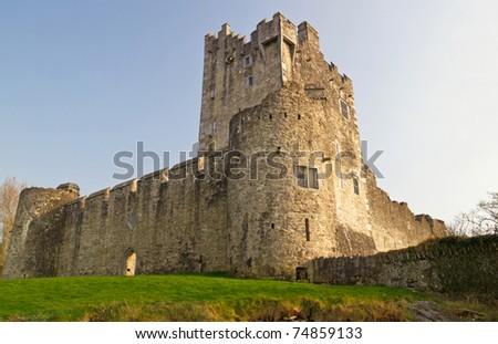 Ross castle in Killarney - Ireland - stock photo
