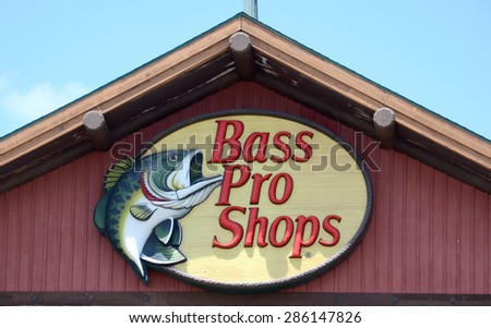 ROSSFORD, OH - JUNE 2:  Bass Pro Shops, whose Rossford, OH location logo is shown on June 2, 2015, has over 70 stores across the United States.