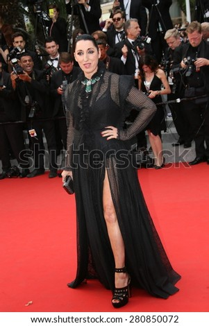Rossy de Palma  attends the 'Macbeth' Premiere during the 68th annual Cannes Film Festival on May 23, 2015 in Cannes, France. - stock photo